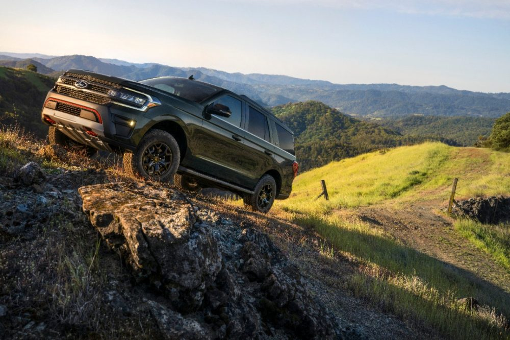 2022 Ford Expedition Timberline going up a steep grade