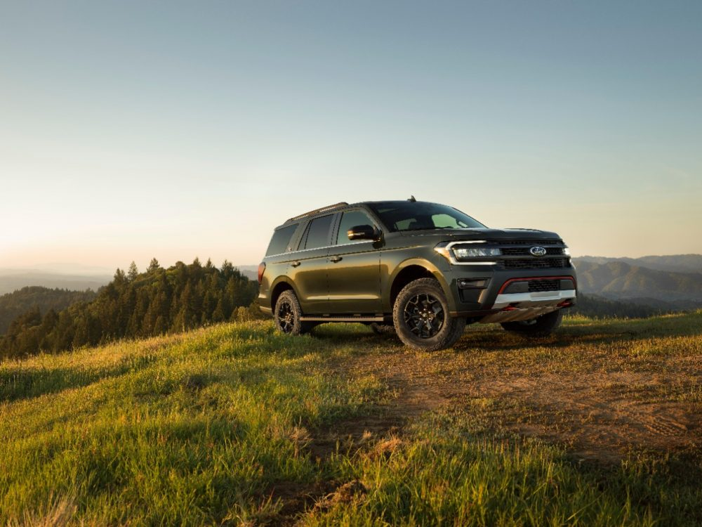 2022 Ford Expedition Timberline atop a hill