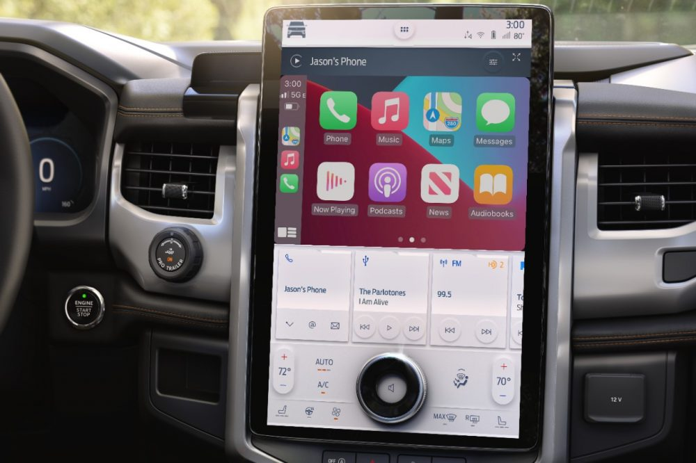 2022 Ford Expedition Timberline SYNC 4A 15.5-inch touch screen