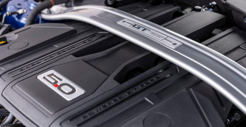 2022 Ford Mustang GT California Special 5.0-liter V8 with trut tower brace with California Special badge