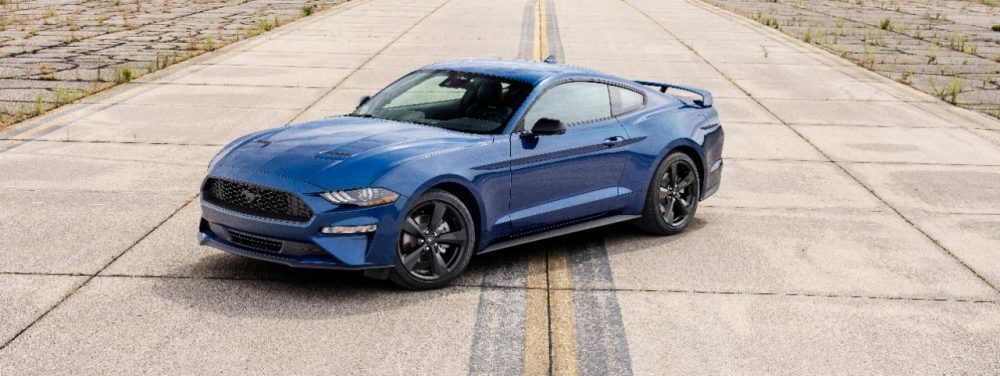 2022 Ford Mustang Stealth Edition in Atlas Blue