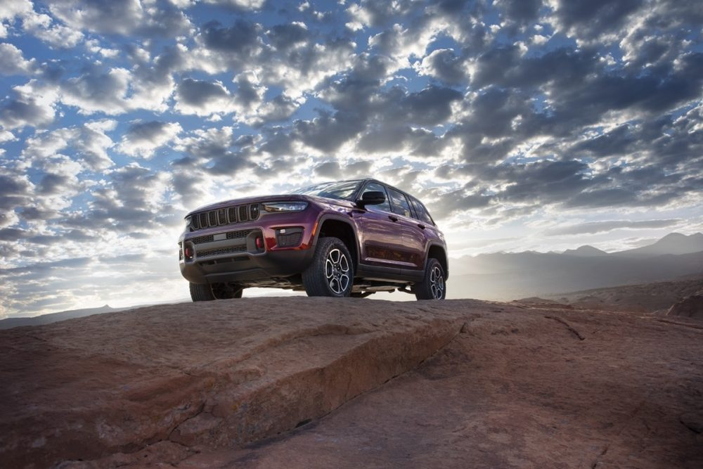 The 2022 Jeep Grand Cherokee Trailhawk off the road