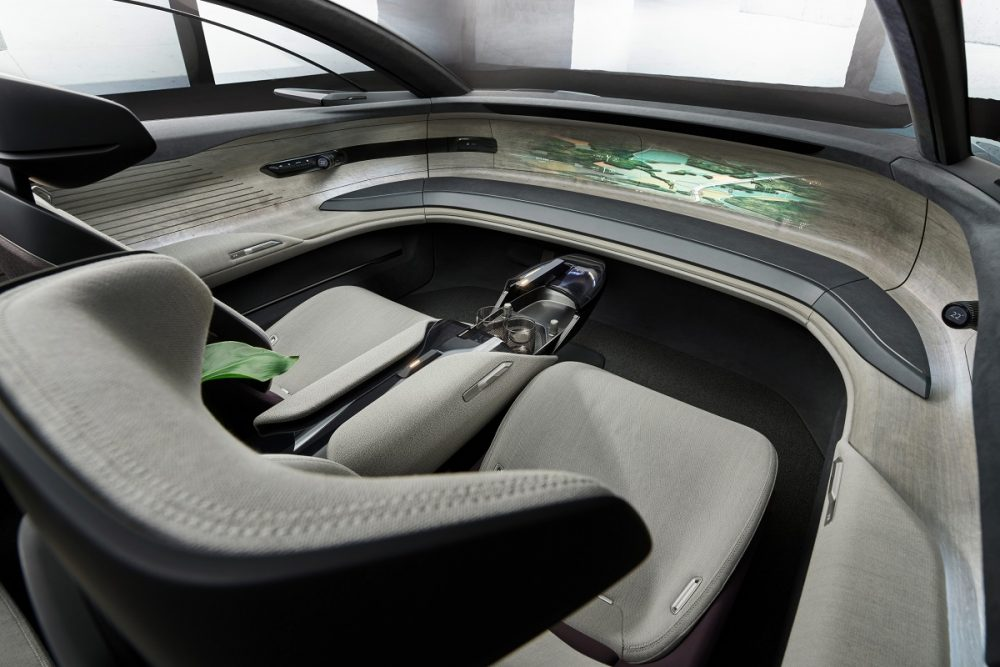 Interior front view of the Audi grandsphere concept